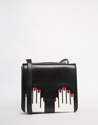 Lulu Guinness Marcie Cross Body With Hands Graphic Black