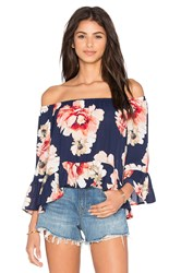 Eight Sixty Off The Shoulder Top Navy
