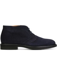 Doucal's Lace Up Boots Blue