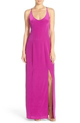 Charlie Jade Women's Strappy Back Silk Maxi Dress