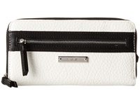 Nine West Track Tion Action Slgs Small Zip Snow Petal Wallet White