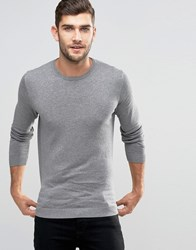 Jack And Jones Premium Crew Neck Jumper Grey Melange