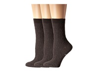 Smartwool Cable Ii 3 Pack Chestnut Heather Women's Crew Cut Socks Shoes Brown