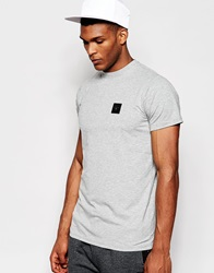 Creative Recreation T Shirt With Small Metal Logo Greymarl