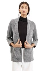 Women's Topshop Boyfriend Herringbone Jacket Grey