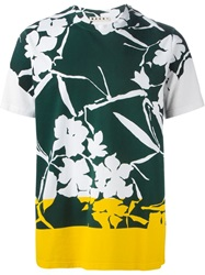 Marni Flower Print T Shirt White