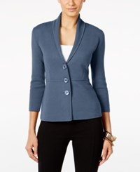 Alfani Three Button Knit Jacket Only At Macy's Global Blue
