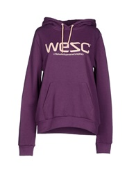 Wesc Sweatshirts Purple