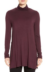 Dex Women's Turtleneck Tunic Burgundy