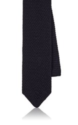 Boglioli Men's Silk Knit Necktie Navy