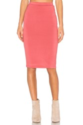 Blq Basiq 1 Band Pencil Skirt Coral