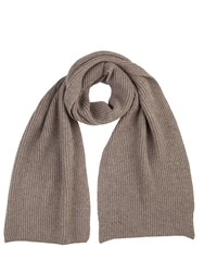 Johnstons Of Elgin Cashmere Ribbed Scarf Brown