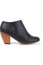 Dieppa Restrepo Metallic Canvas Ankle Boots Blue