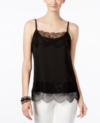 Inc International Concepts Lace Trim Shell Only At Macy's Deep Black