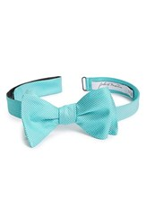 Men's John W. Nordstrom Dot Silk Bow Tie Blue Aqua