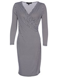 Yanny London Wrap Dress Black White