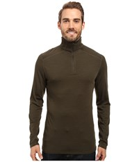 Royal Robbins Go Everywhere 1 4 Zip Shirt Dark Olive Men's Long Sleeve Pullover
