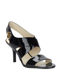 Michael Michael Kors Joselle Open Toe Patent Leather Slingbacks Black