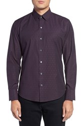 Zachary Prell Men's Jacquard Trim Fit Sport Shirt