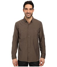 Kuhl Renegade Long Sleeve Shirt Walnut Men's Long Sleeve Button Up Brown