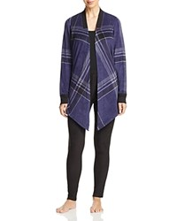 Dkny Intimates Long Sleeve Cozy And Leggings Set Peacoat Plaid