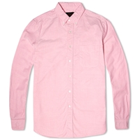 Beams Plus Button Down Oxford Shirt Pink
