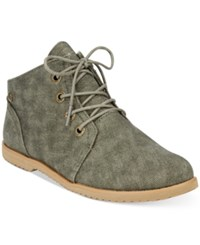 Bearpaw Clair Lace Up Desert Booties Women's Shoes Olive
