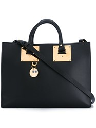 Sophie Hulme Adjustable Strap Large Tote Black