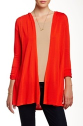 Colour Works Hooded Flare Cardigan Red