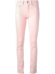 Love Moschino Skinny Jeans Pink And Purple
