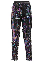 Oh My Love Disco Inferno Trousers Petrol Multicoloured
