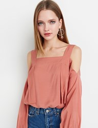 Pixie Market Rust Strappy Off The Shoulder Top