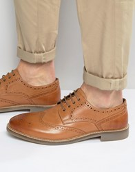 Lambretta Brogues In Tan Leather Tan