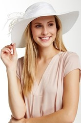 August Hat To The Races Down Brim Hat White