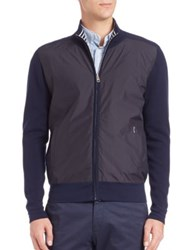 Faconnable Zippered Wool Jacket Blue
