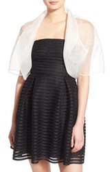 Women's Bernie Of New York Sheer Organza Silk Bolero