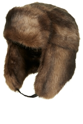 Topshop Brown Bear Faux Fur Trapper