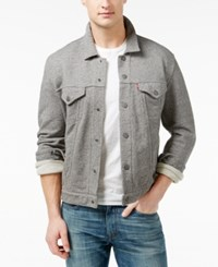 Levi's French Terry Trucker Jacket Grey Heather