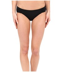 Jets By Jessika Allen Illuminate Gathered Side Hipster Bikini Bottom Black Women's Swimwear