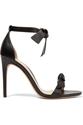 Alexandre Birman Clarita Bow Embellished Leather Sandals Black