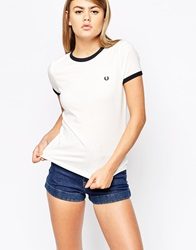 Fred Perry Tipped T Shirt Snowwhite