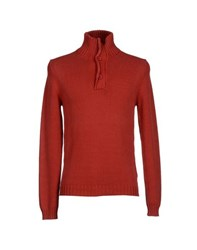Alpha Studio Knitwear Turtlenecks Men Red