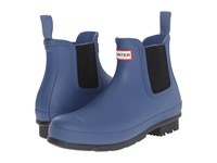Hunter Original Chelsea Dark Sole Tarp Blue Men's Rain Boots