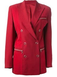 Jean Paul Gaultier Vintage Double Breasted Blazer Red