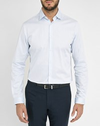 Ikks Sky Blue Shirt With Navy Trim On The Sides