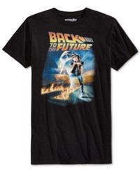 Mighty Fine Men's Back To The Future T Shirt Black