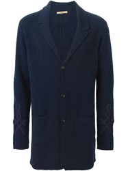 Nuur Buttoned Cardigan Blue