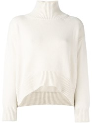Ermanno Scervino Ribbed Cropped Jumper Nude And Neutrals