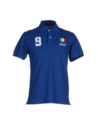 Williams Wilson Topwear Polo Shirts Men Blue
