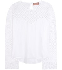 81 Hours Evy Cotton Blouse White